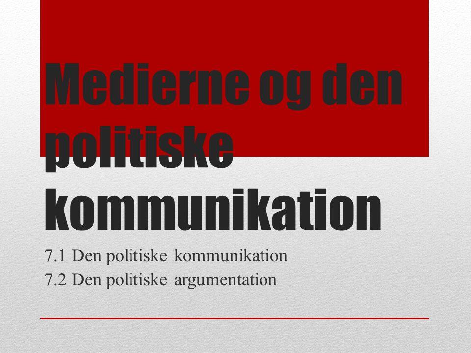 Medierne og den politiske kommunikation