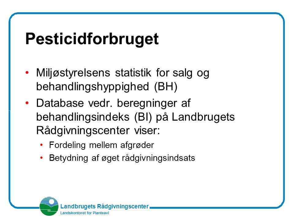 Pesticidforbruget Miljøstyrelsens statistik for salg og behandlingshyppighed (BH)