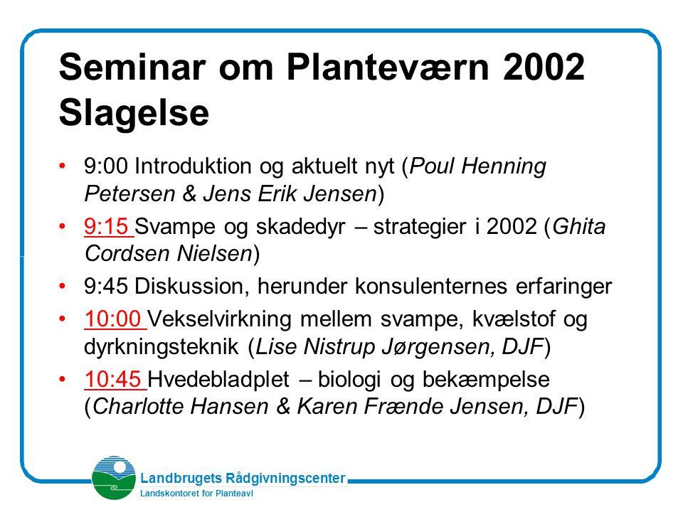 Seminar om Planteværn 2002 Slagelse