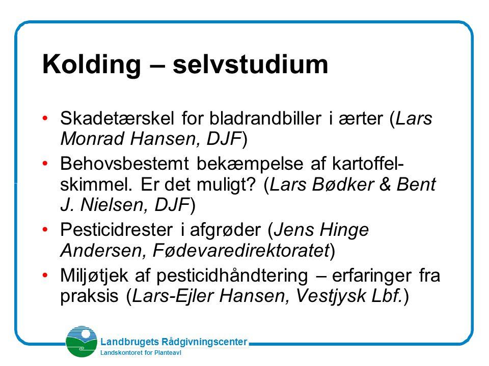 Kolding – selvstudium Skadetærskel for bladrandbiller i ærter (Lars Monrad Hansen, DJF)