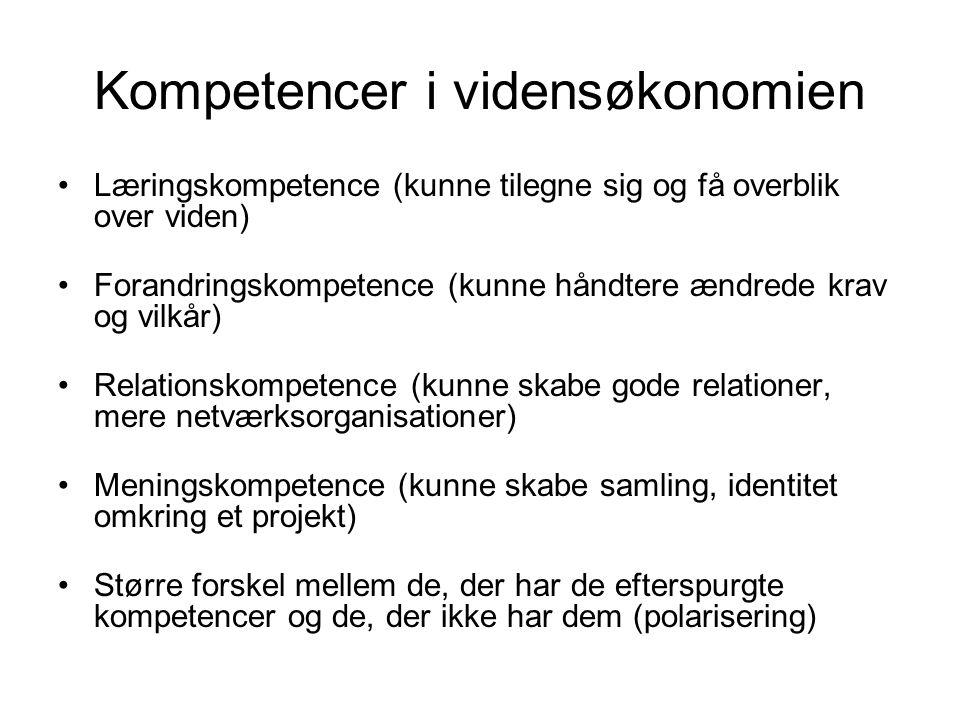 Kompetencer i vidensøkonomien