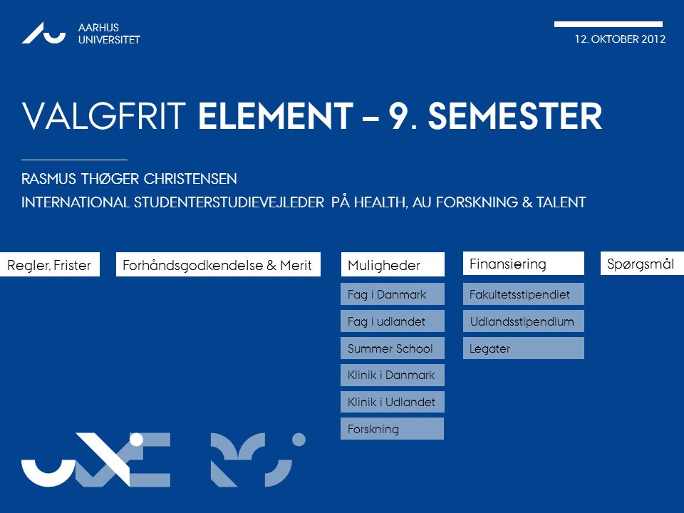 Valgfrit element – 9. SEMESTER