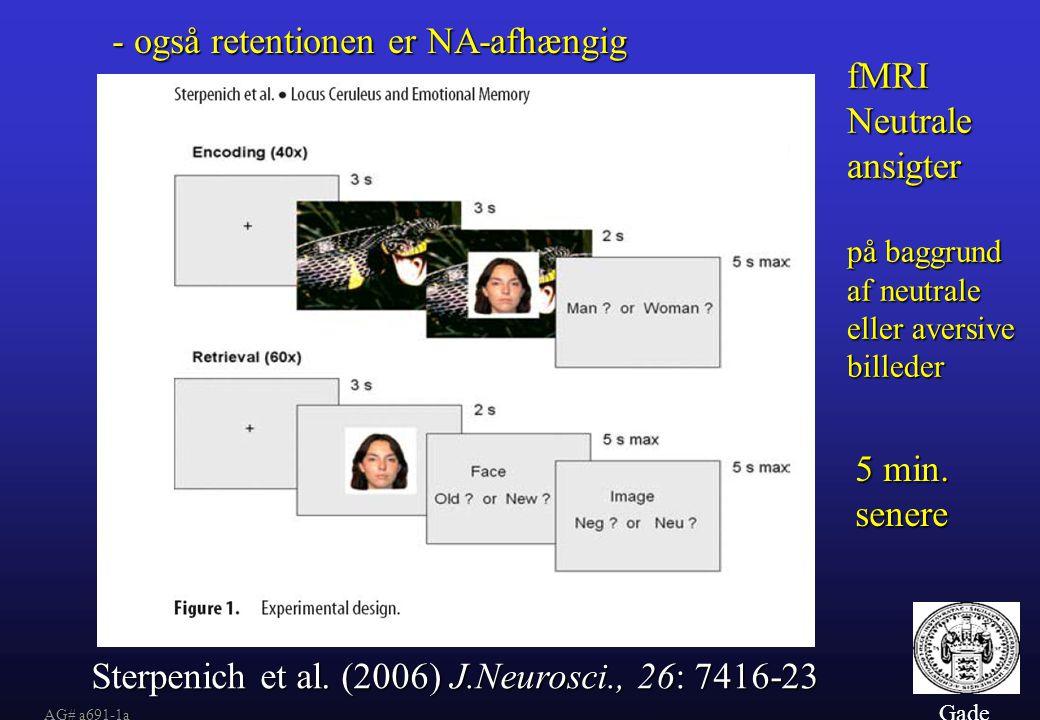 - også retentionen er NA-afhængig fMRI Neutrale