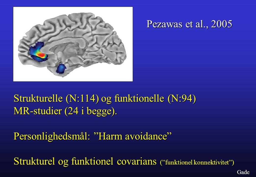 Strukturelle (N:114) og funktionelle (N:94) MR-studier (24 i begge).