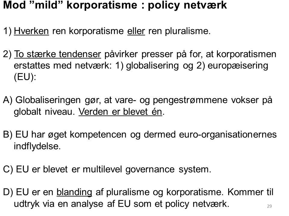 Mod mild korporatisme : policy netværk
