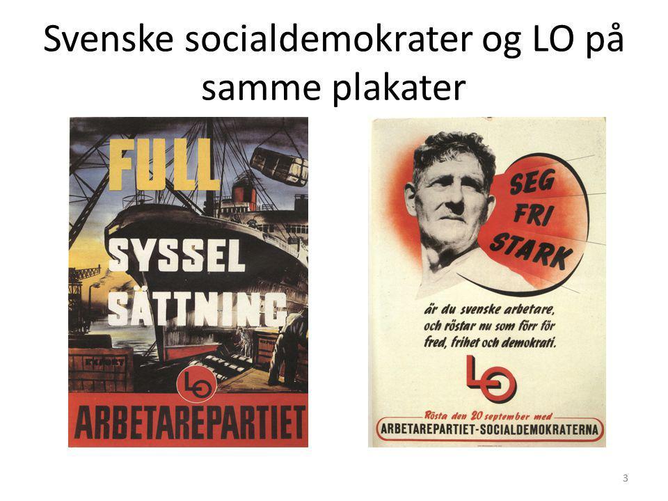 Svenske socialdemokrater og LO på samme plakater