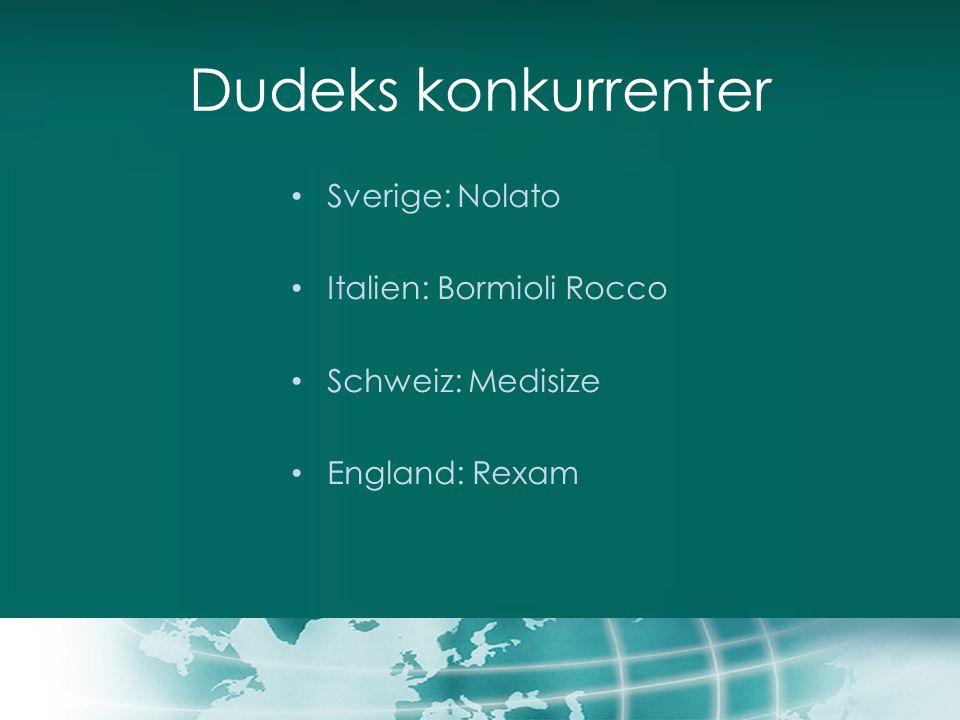 Dudeks konkurrenter Sverige: Nolato Italien: Bormioli Rocco