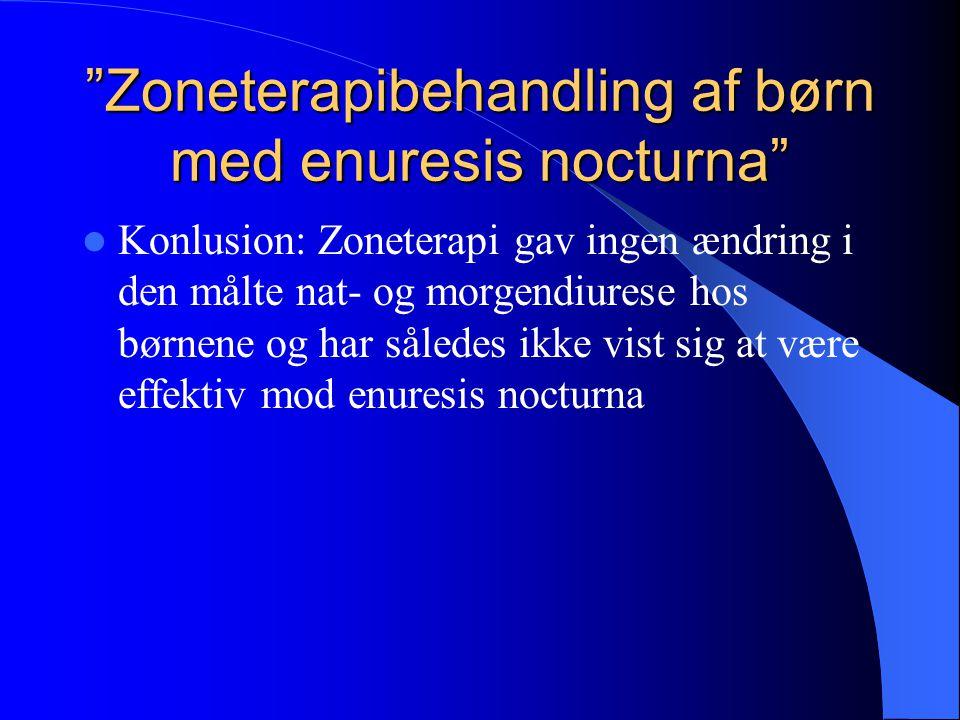 Zoneterapibehandling af børn med enuresis nocturna