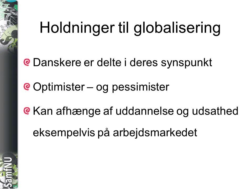 Holdninger til globalisering