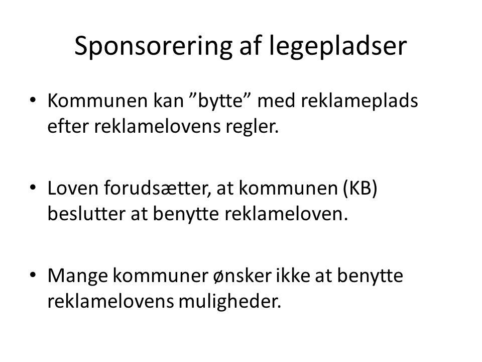 Sponsorering af legepladser