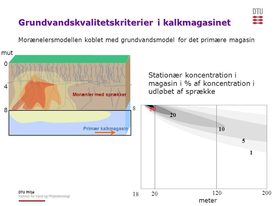 Grundvandskvalitetskriterier i kalkmagasinet