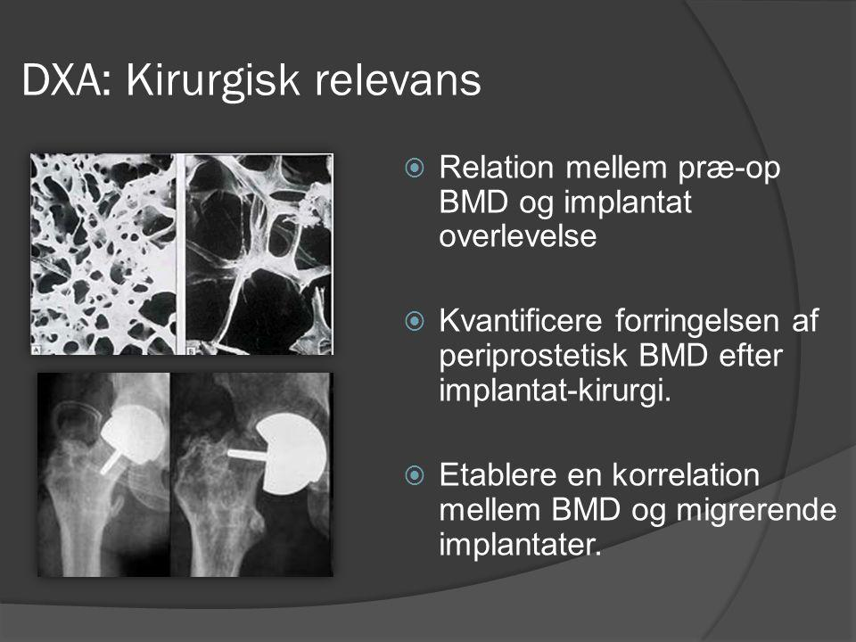 DXA: Kirurgisk relevans