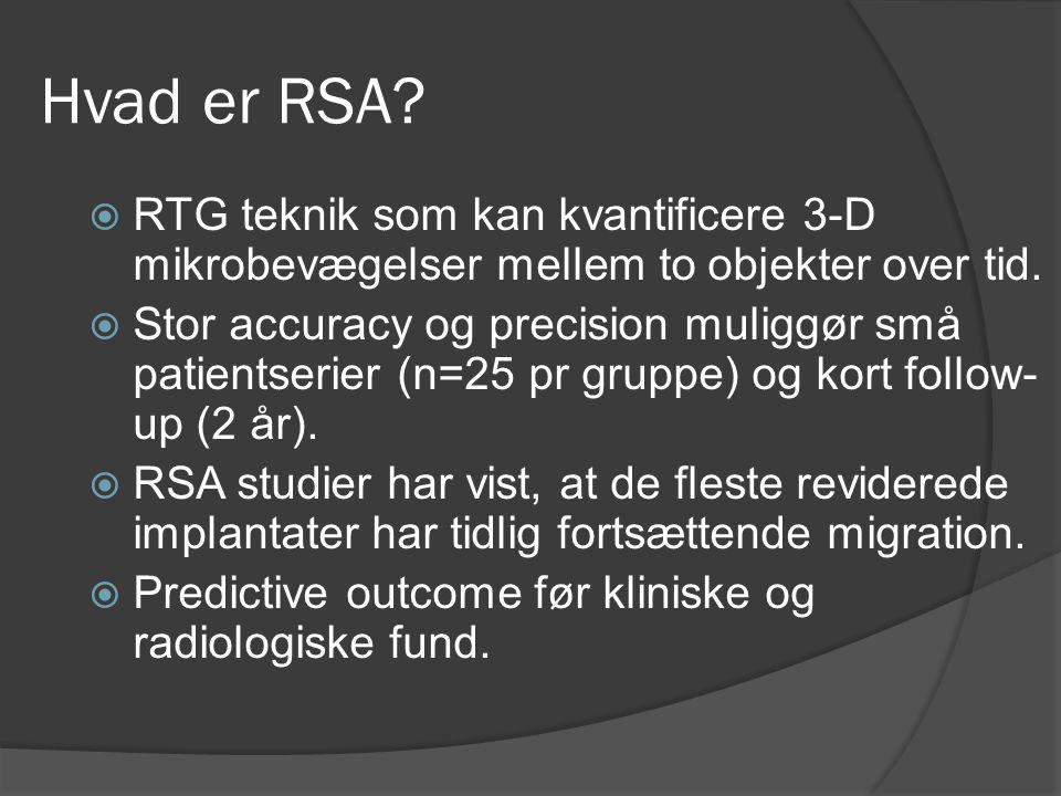 Hvad er RSA RTG teknik som kan kvantificere 3-D mikrobevægelser mellem to objekter over tid.