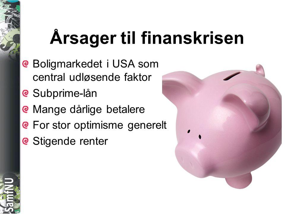 Årsager til finanskrisen