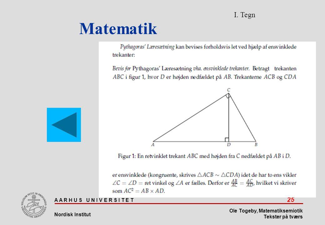 Matematik I. Tegn