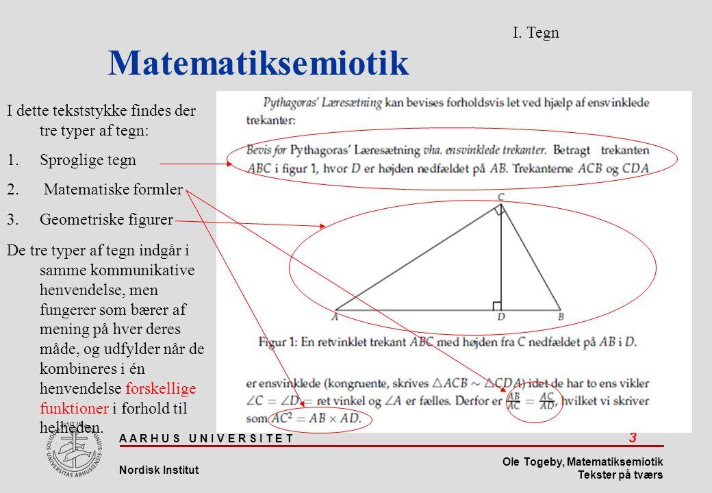 Matematiksemiotik I. Tegn