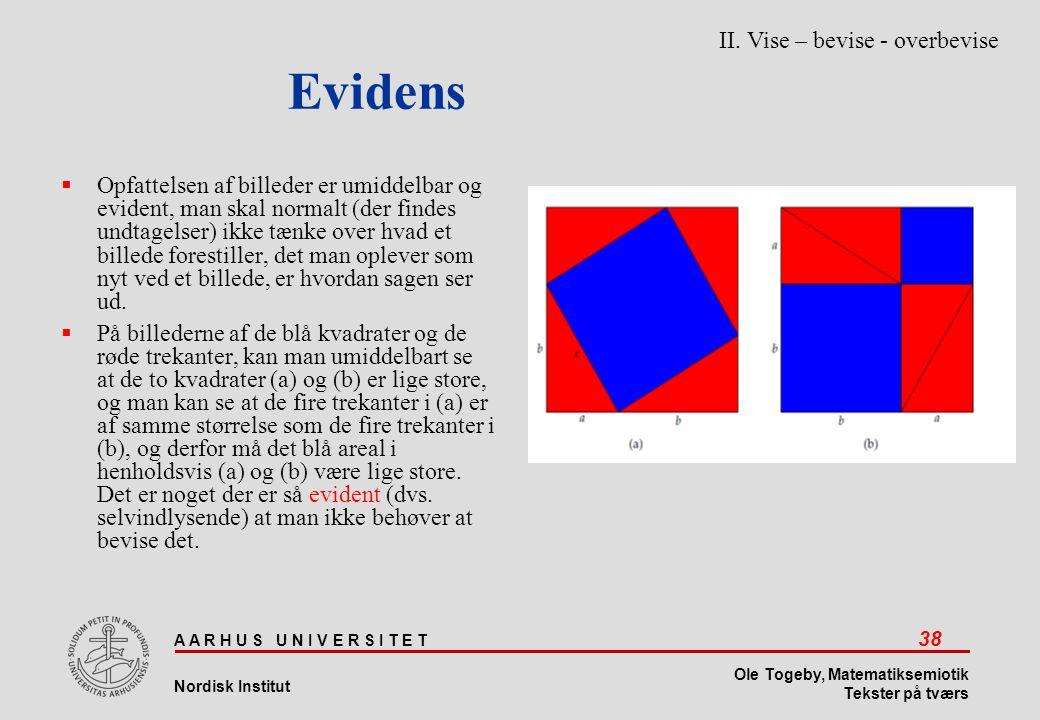 Evidens II. Vise – bevise - overbevise