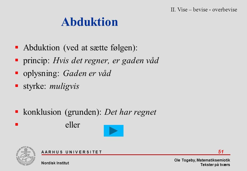 Abduktion Abduktion (ved at sætte følgen):