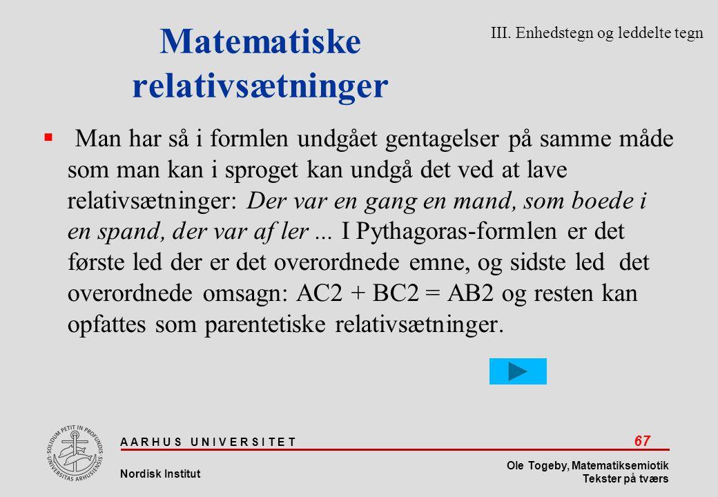 Matematiske relativsætninger