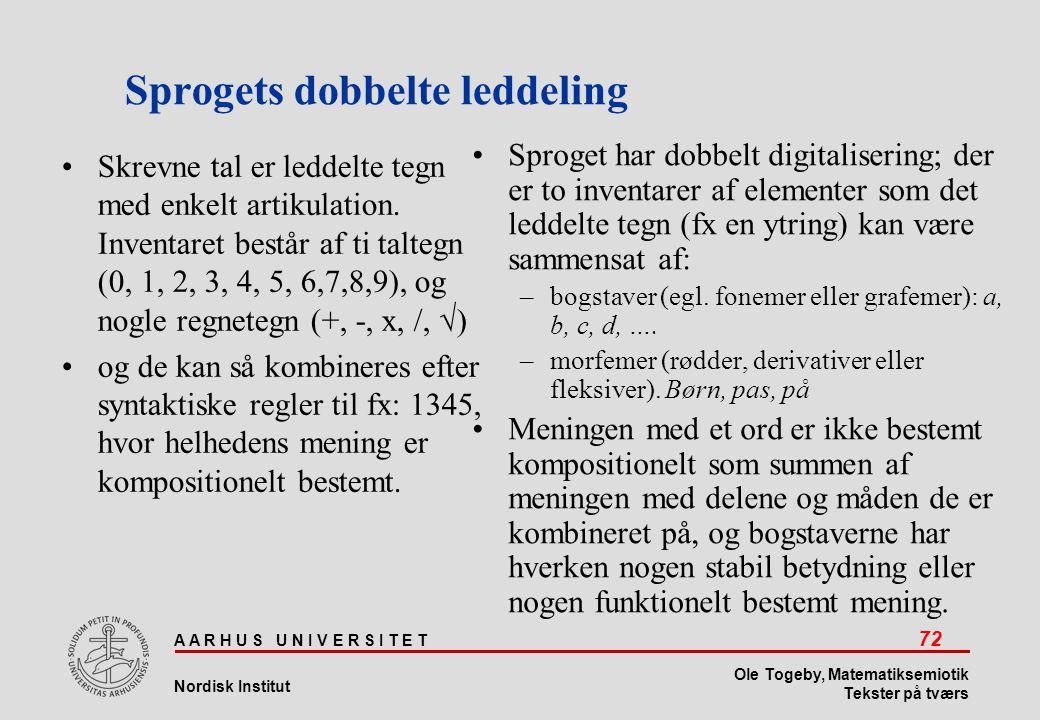 Sprogets dobbelte leddeling