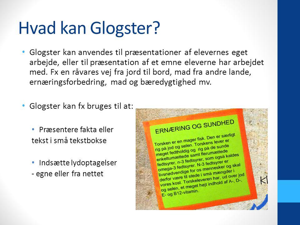 Hvad kan Glogster