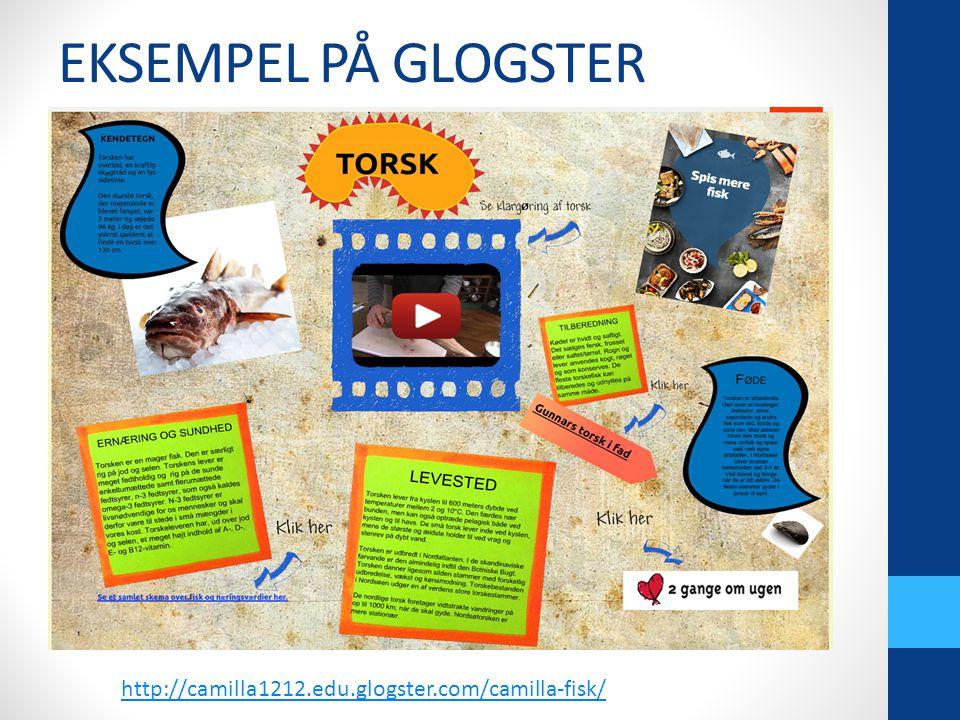 EKSEMPEL PÅ GLOGSTER .m..m