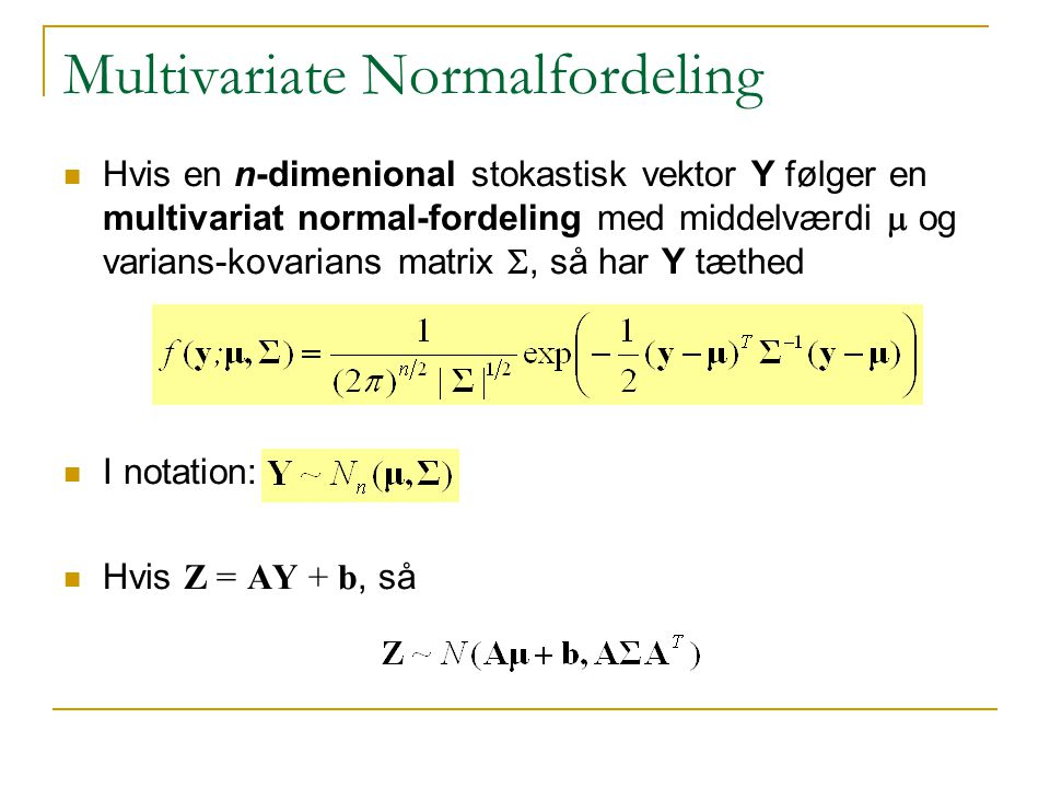 Multivariate Normalfordeling
