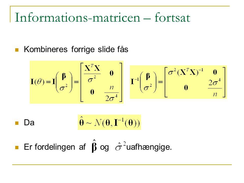 Informations-matricen – fortsat