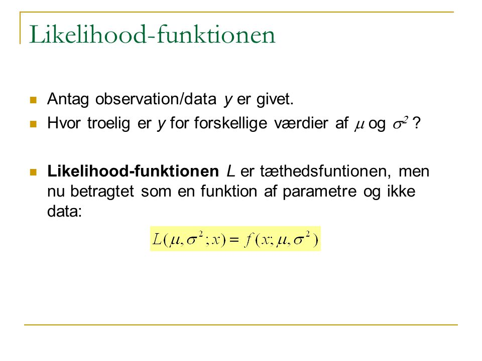 Likelihood-funktionen