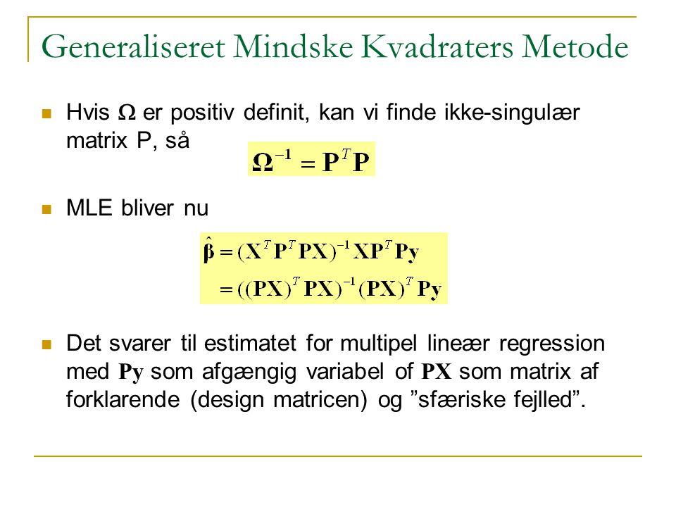 Generaliseret Mindske Kvadraters Metode