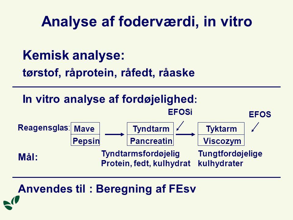 Analyse af foderværdi, in vitro