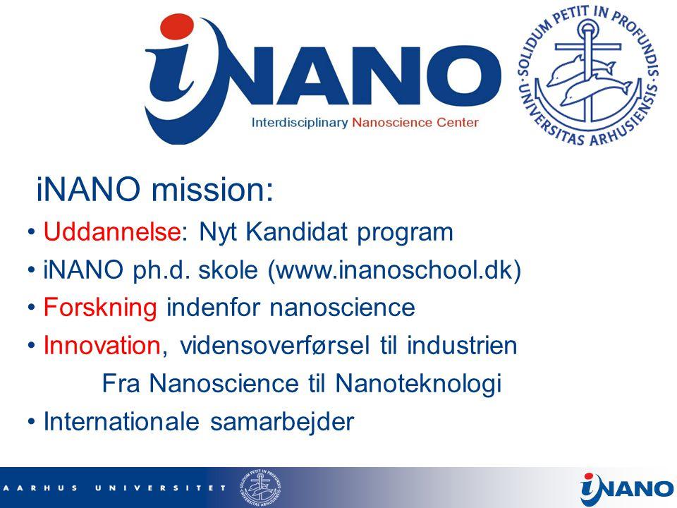iNANO mission: Uddannelse: Nyt Kandidat program