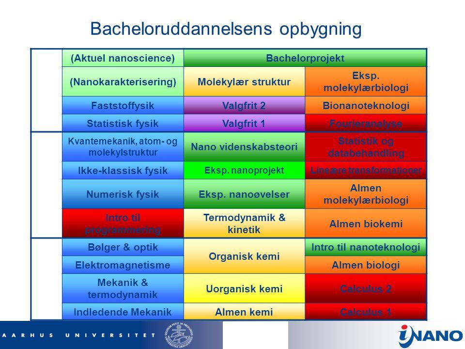 Bacheloruddannelsens opbygning
