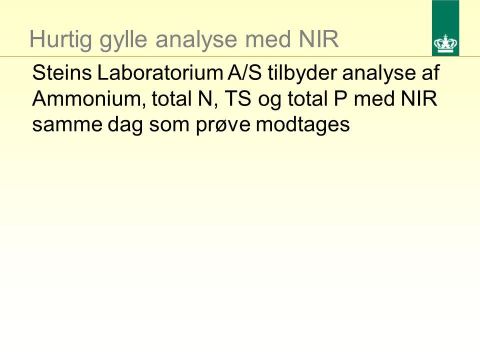 Hurtig gylle analyse med NIR