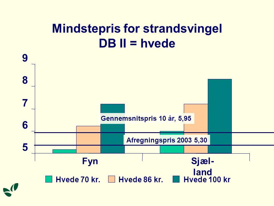 Mindstepris for strandsvingel DB II = hvede