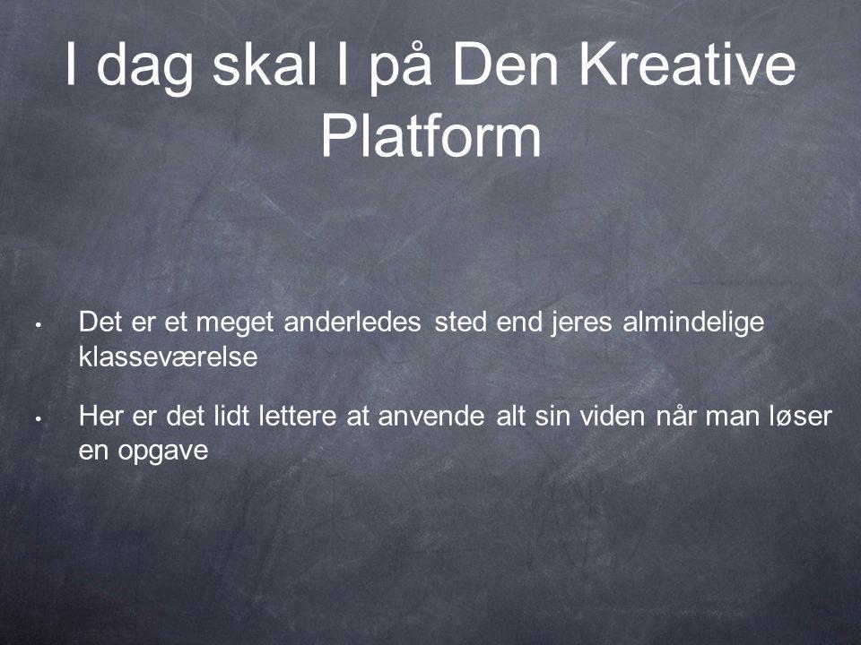 I dag skal I på Den Kreative Platform