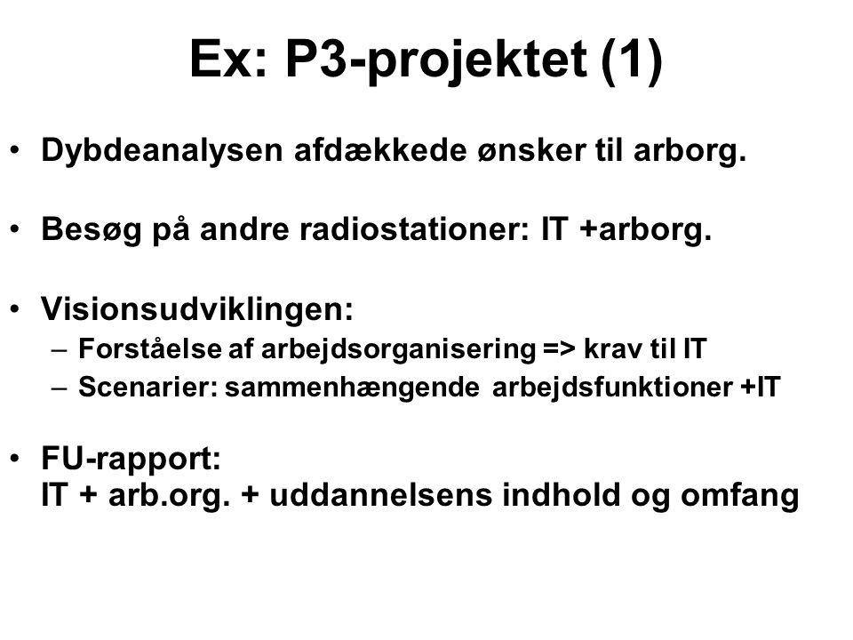 Ex: P3-projektet (1) Dybdeanalysen afdækkede ønsker til arborg.