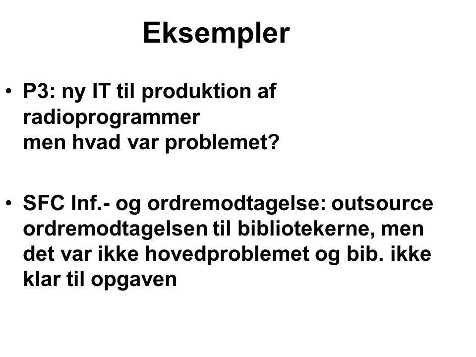 Eksempler P3: ny IT til produktion af radioprogrammer men hvad var problemet