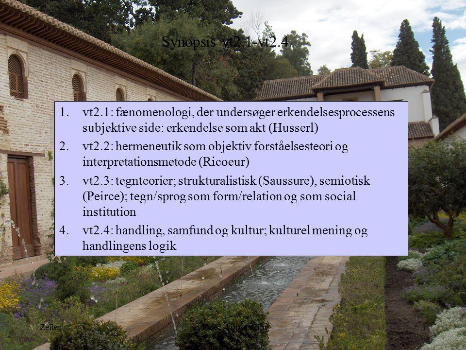 Synopsis vt2.1-vt2.4 vt2.1: fænomenologi, der undersøger erkendelsesprocessens subjektive side: erkendelse som akt (Husserl)