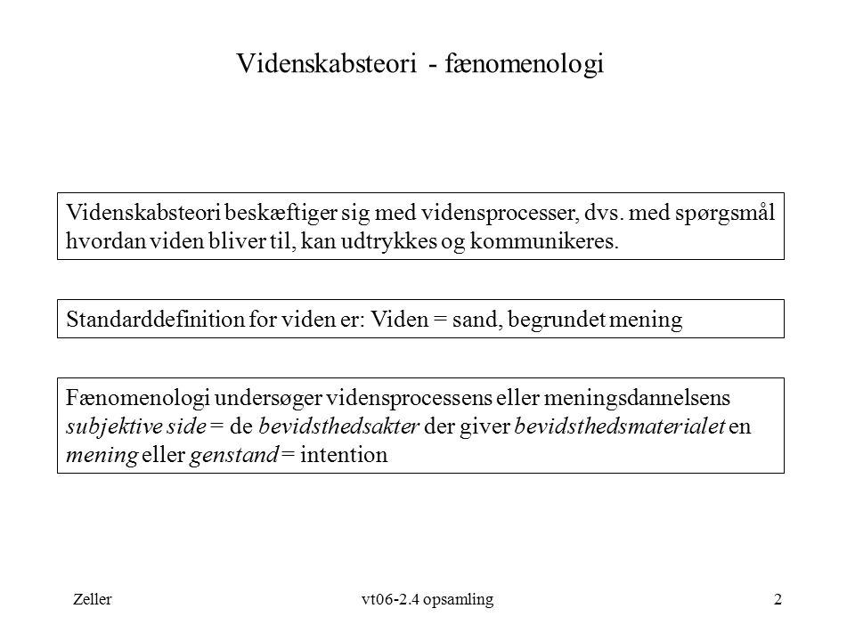 Videnskabsteori - fænomenologi