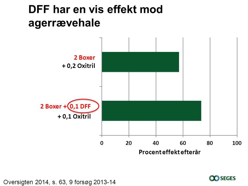 DFF har en vis effekt mod agerrævehale