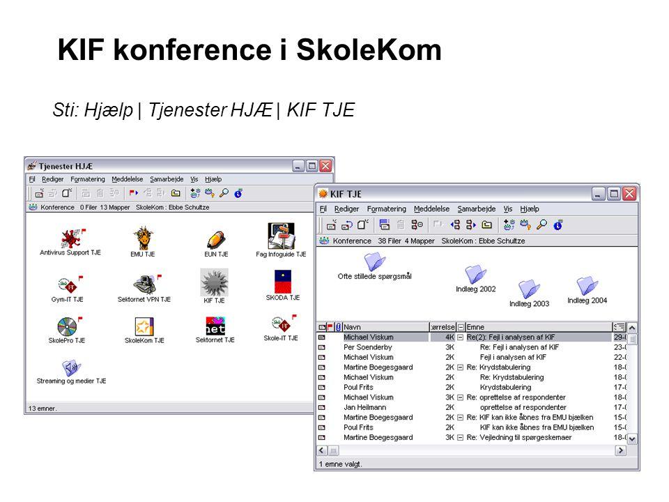 KIF konference i SkoleKom