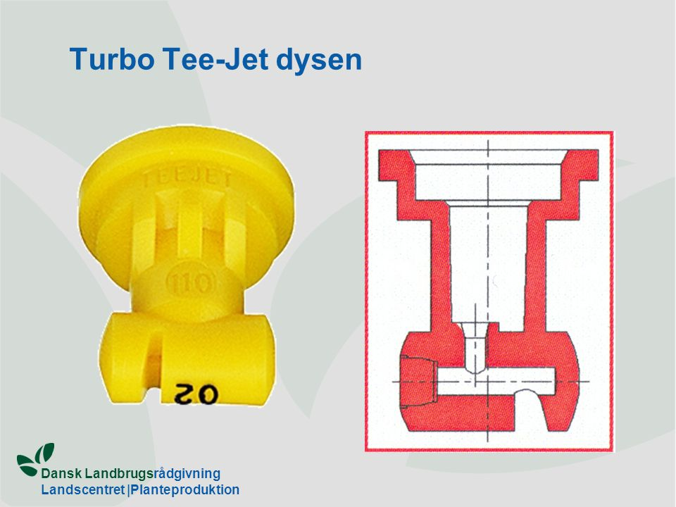 Turbo Tee-Jet dysen