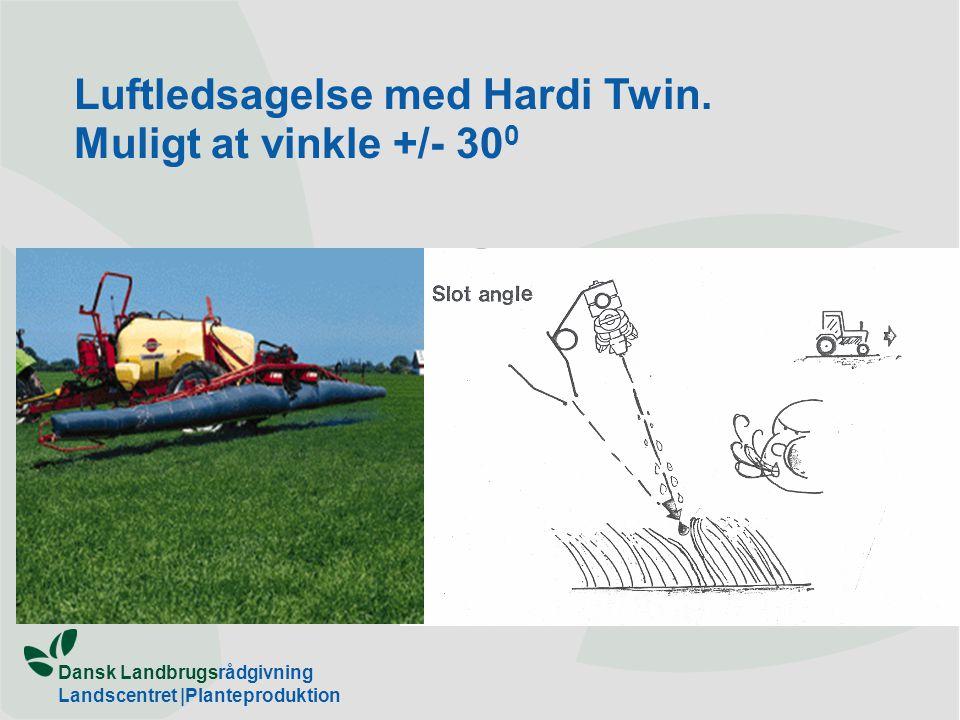 Luftledsagelse med Hardi Twin. Muligt at vinkle +/- 300