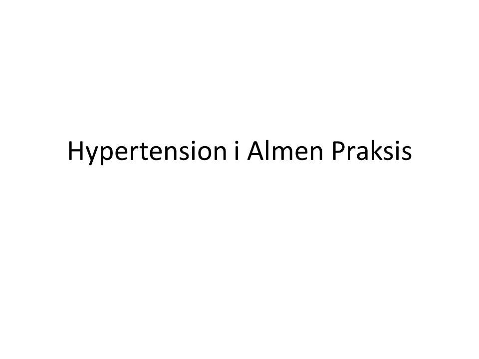 Hypertension i Almen Praksis