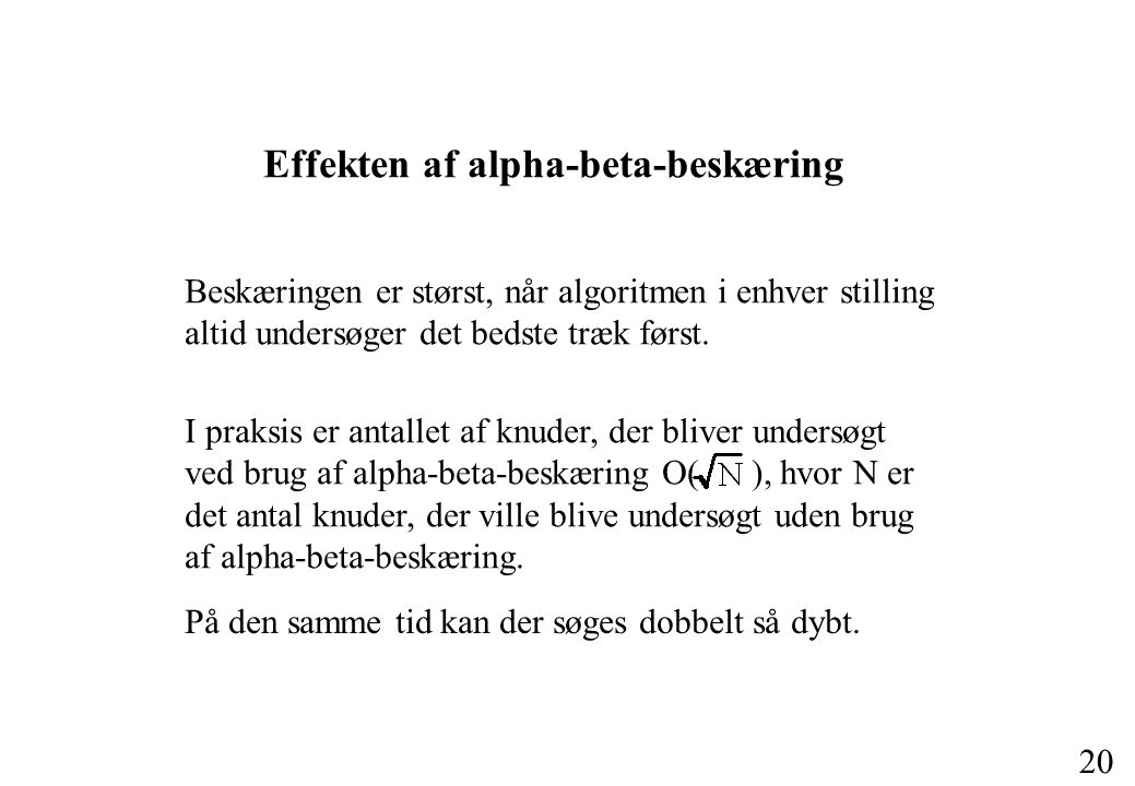 Effekten af alpha-beta-beskæring