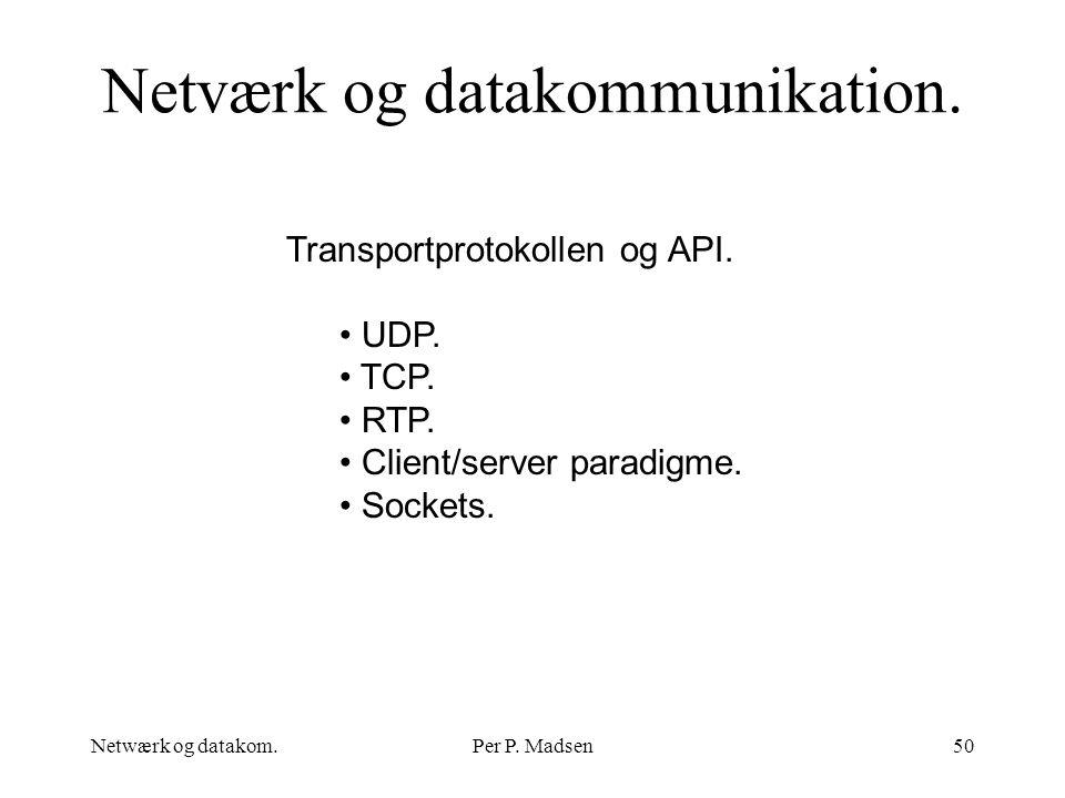 Netværk og datakommunikation.