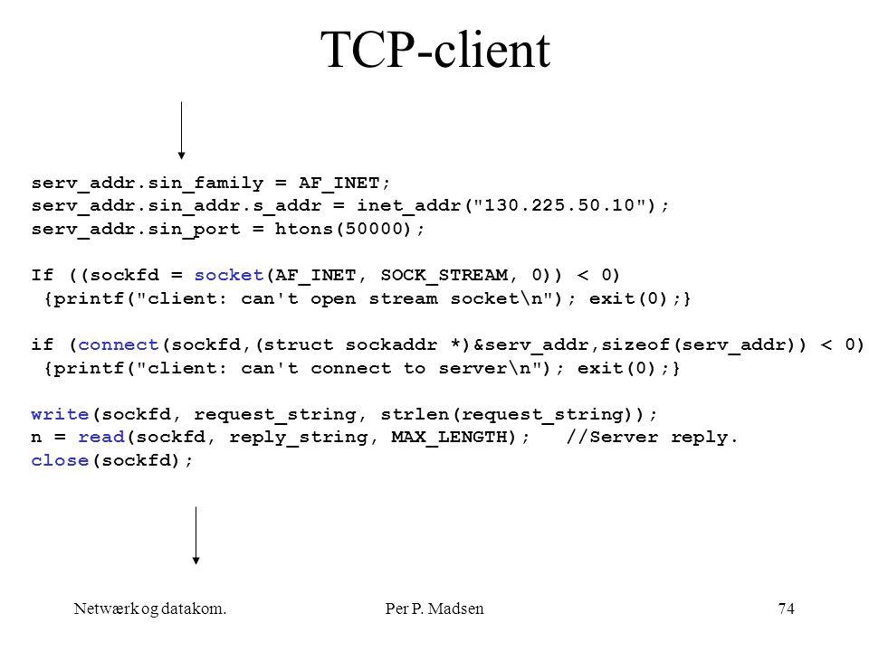 TCP-client serv_addr.sin_family = AF_INET;