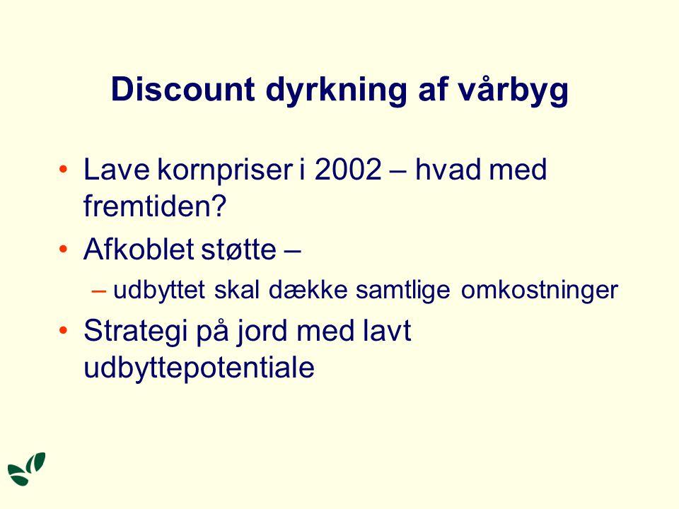 Discount dyrkning af vårbyg