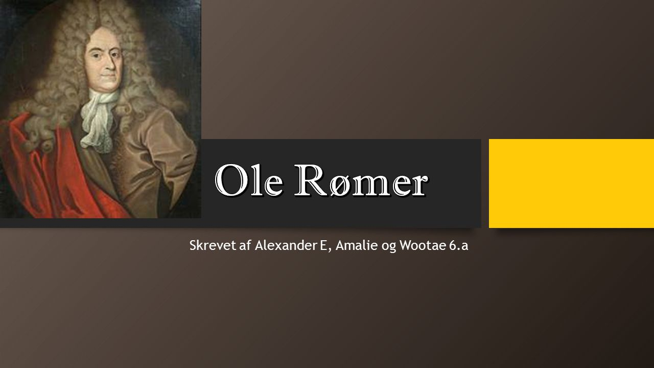 Skrevet af Alexander E, Amalie og Wootae 6.a